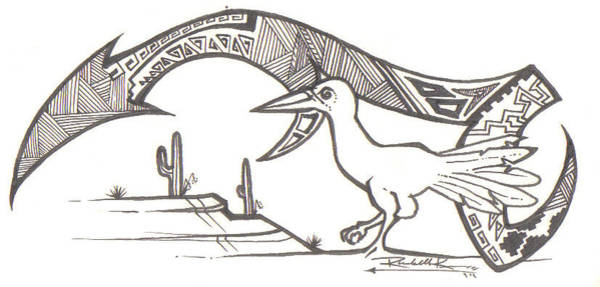 Wall Art - Drawing - Roadrunner by Eric Kee
