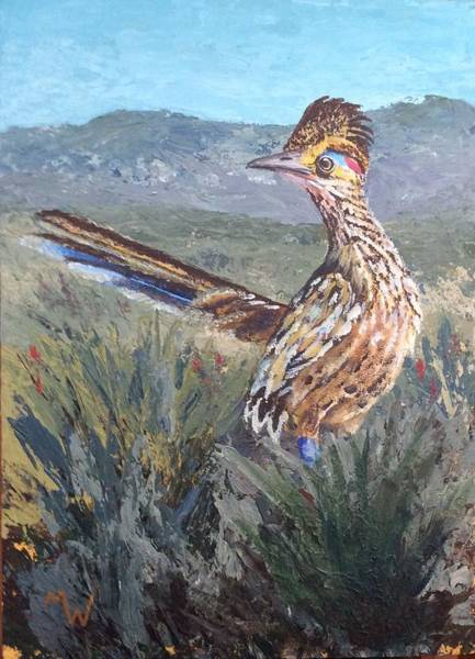 Roadrunner Painting - Roadrunner by Michelle Wolfe