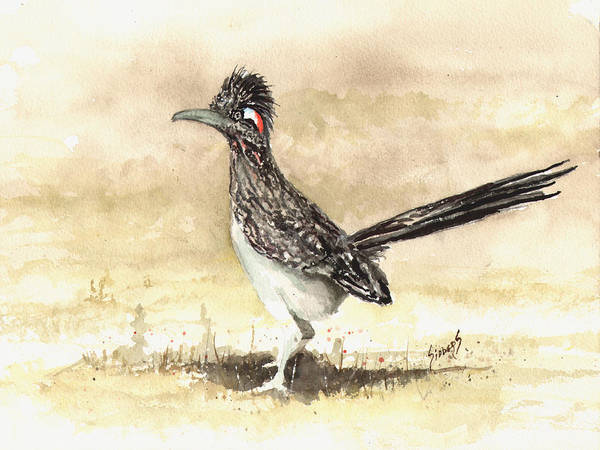 Roadrunner Painting - Roadrunner by Sam Sidders