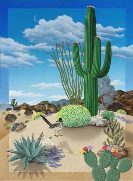 Snake Mountain Wall Art - Painting - Roadrunner by Snake Jagger
