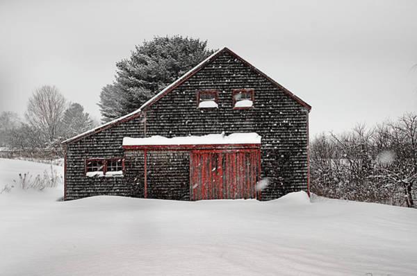 New England Barn Photograph - Roadside Barn In The Storm by Dan Jordan