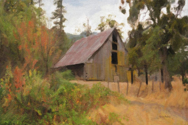 Digital Art - Roadside Barn by Ramona Murdock
