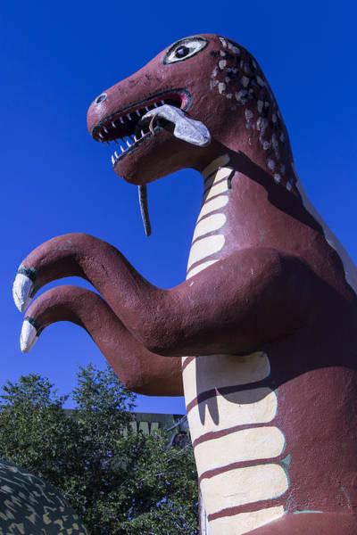 Timeworn Photograph - Roadside Dinosaur by Garry Gay