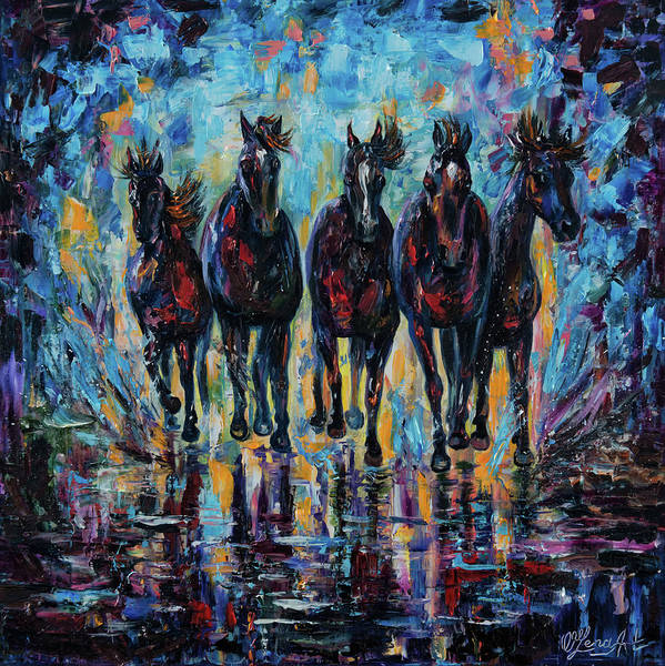 Painting - Roaming Free by OLena Art - Lena Owens