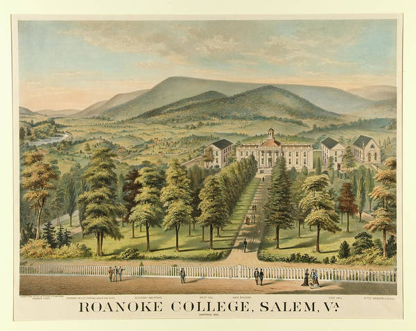 College Campus Painting - Roanoke College, Salem, Virginia by Unknown