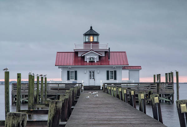 Roanoke Marshes Light Wall Art - Photograph - Roanoke Marshes Lighthouse by Cindy Archbell