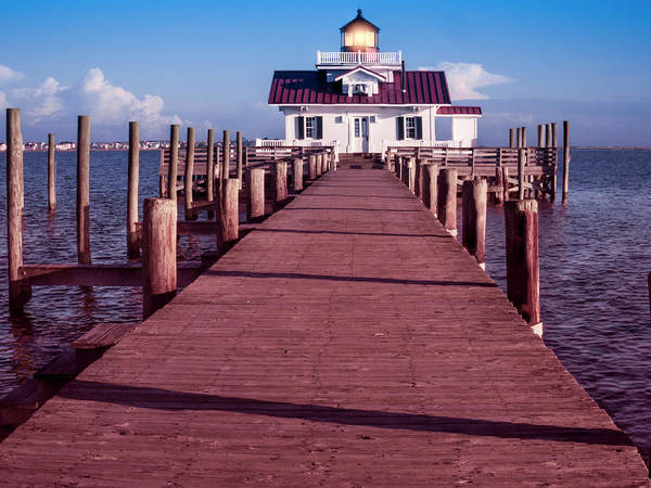 Photograph - Roanoke Marshes Lighthouse by Penny Lisowski