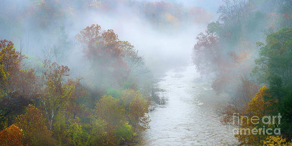 Photograph - Roanoke River And Fog by Thomas R Fletcher