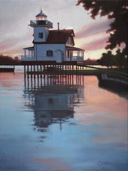 Roanoke Wall Art - Painting - Roanoke River Light by Todd Baxter