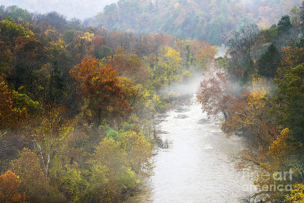Photograph - Roanoke River With Fog by Thomas R Fletcher