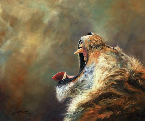 Painting - Roar Of The Lion by David Stribbling