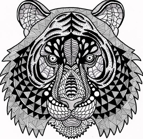 Drawing - Roar by Vicki Winchester
