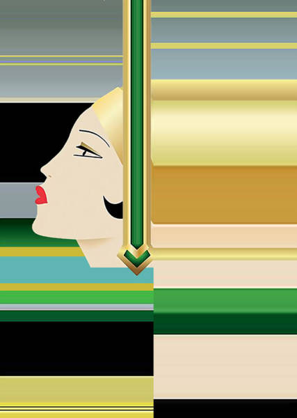 Digital Art - Roaring 20s Collage by Chuck Staley