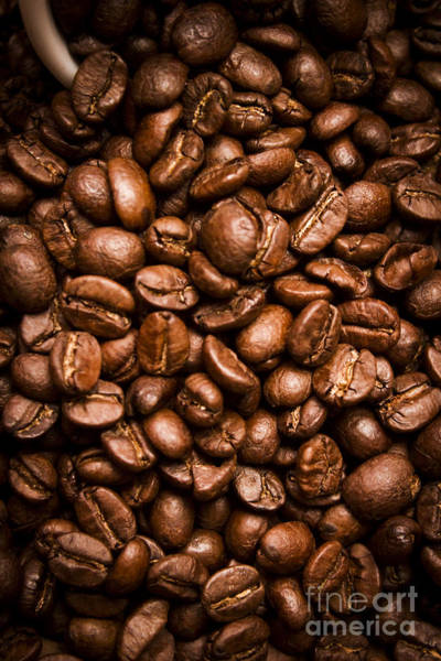 Photograph - Roasted Coffee Beans Background by Jorgo Photography - Wall Art Gallery
