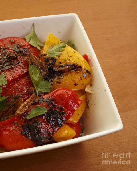 Olive Oil Photograph - Roasted Peppers by Edward Fielding