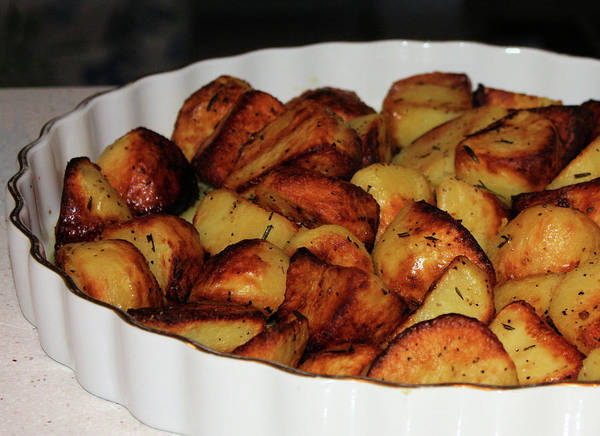 Photograph - Roasted Potatoes by Kristin Elmquist