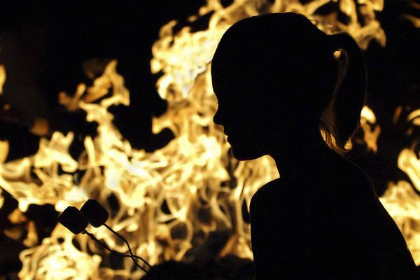 Photograph - Roasting Marshmallows Over An Open Fire by Jill Reger