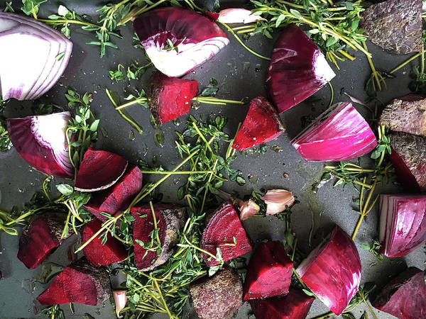 Olive Oil Photograph - Roasting Vegetables by Tom Gowanlock