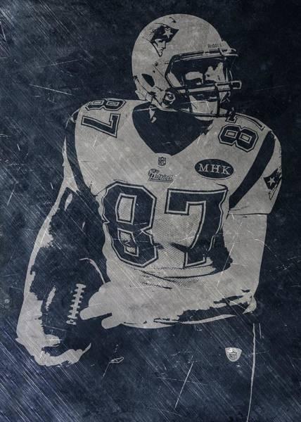 Gronkowski Photograph - Rob Gronkowski New England Patriots by Joe Hamilton