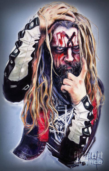 Wall Art - Pastel - Rob Zombie by Melanie D