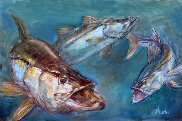 Wall Art - Painting - Robalo by Tom Dauria