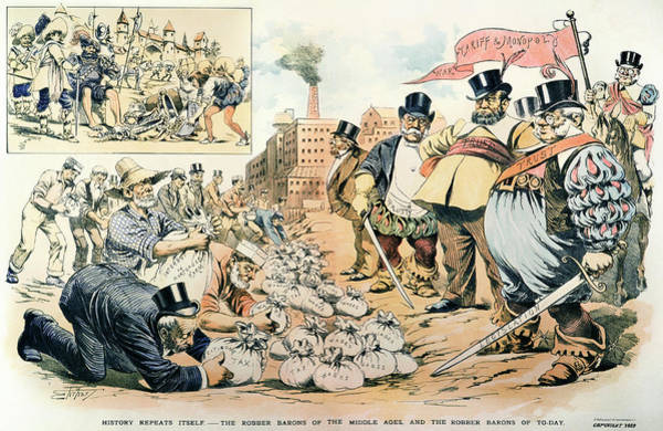 Drawing - Robber Barons, 1889 by Samuel Ehrhardt