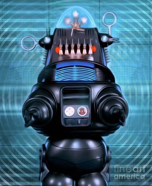 Robbie Digital Art - Robbie The Robot, Forbidden Planet by Mary Bassett