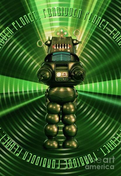 Robbie Digital Art - Robbie The Robot - Forbidden Planet by Raphael Terra