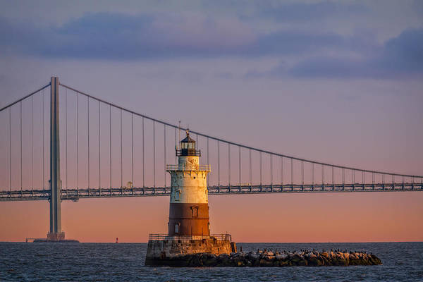 Photograph - Robbins Reef Light by Susan Candelario