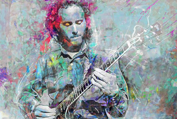 Wall Art - Mixed Media - Robby Krieger by Mal Bray