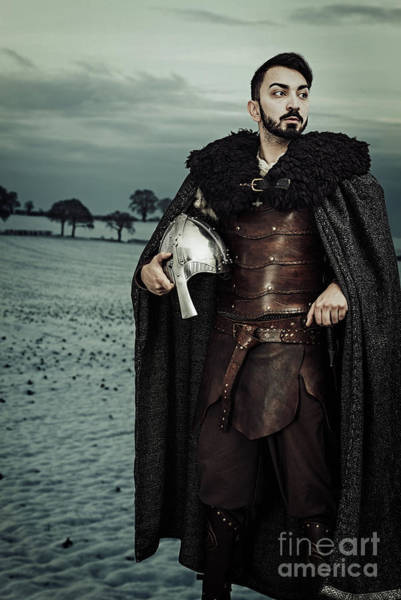 Cosplay Photograph - Robed Viking With Helmet by Amanda Elwell