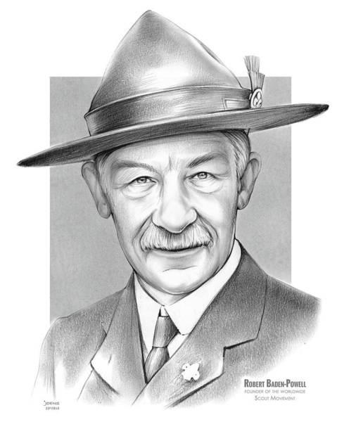 Baden Wall Art - Drawing - Robert Baden Powell by Greg Joens