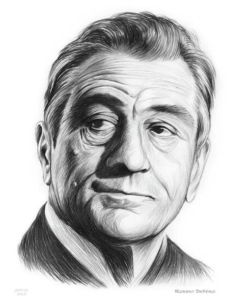 Robert De Niro Wall Art - Drawing - Robert De Niro 17aug18 by Greg Joens