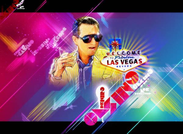Season Mixed Media - Robert De Niro Casino Poster by Jeff Steed
