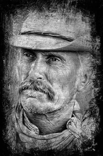 Wall Art - Drawing - Robert Duvall As Gus by Andrew Read