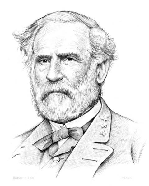 Wall Art - Drawing - Robert E. Lee by Greg Joens