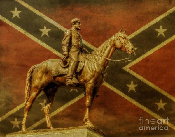 Wall Art - Digital Art - Robert E Lee Statue Gettysburg by Randy Steele