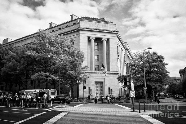 Federal Triangle Wall Art - Photograph - robert f kennedy department of justice building federal triangle Washington DC USA by Joe Fox