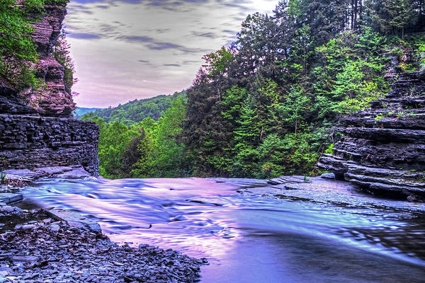 Photograph - Robert H. Treman State Park Top Of The Fall Ithaca Ny by Toby McGuire