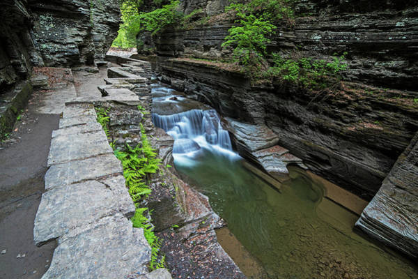 Photograph - Robert H. Treman State Park Walkway Ithaca Ny by Toby McGuire
