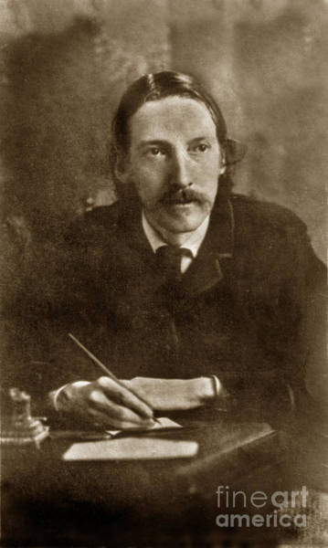 Photograph - Robert Louis Stevenson Born November 13, 1850 Edinburgh, Scotia Circa 1880 by California Views Archives Mr Pat Hathaway Archives