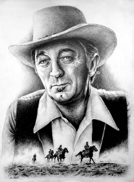 Wall Art - Drawing - Robert Mitchum Edit 2 by Andrew Read