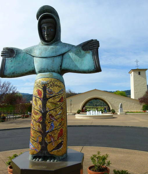 Photograph - Robert Mondavi Winery And St. Francis by Jeff Lowe