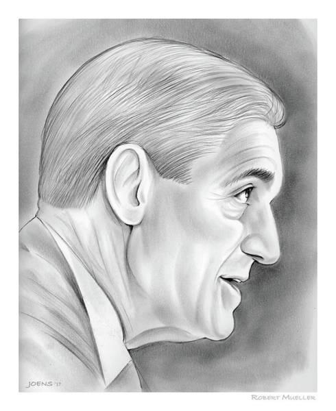 Wall Art - Drawing - Robert Mueller by Greg Joens