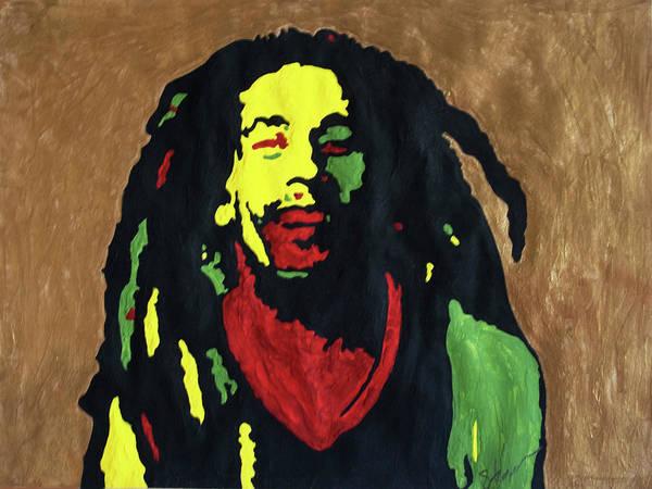 The Wailers Painting - Robert Nesta Marley by Stormm Bradshaw