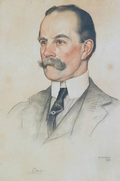 Pastel - Robert Offley Ashburton Milnes, 1st Marquess Of Crewe by William Strang