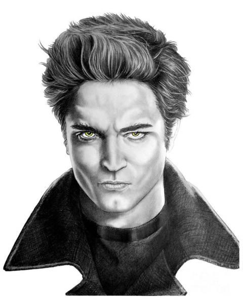 Twilight Drawing - Robert Pattinson - Twilight's Edward by Murphy Elliott