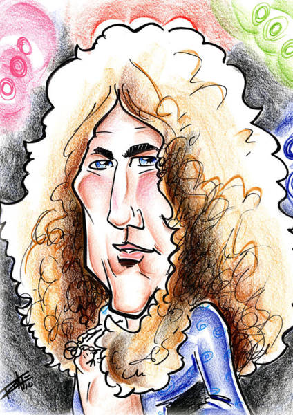 Wall Art - Drawing - Robert Plant by Big Mike Roate