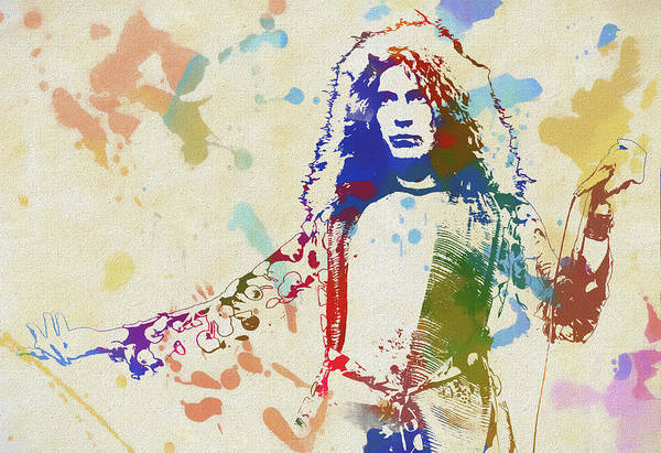 Rock And Roll Jimmy Page Wall Art - Painting - Robert Plant by Dan Sproul