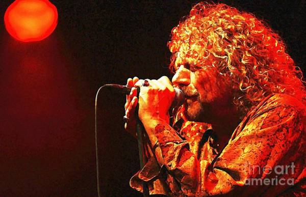 Wall Art - Painting - Robert Plant by John Malone